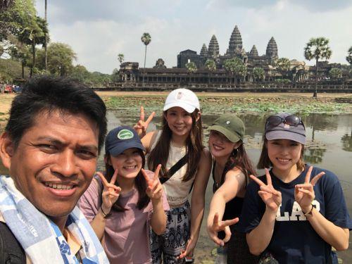 アンコールワット女子旅 カンボジア現地ガイド付け