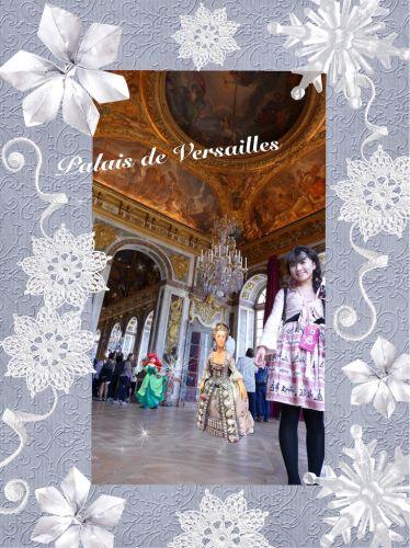 ヴェルサイユ宮殿 鏡の間の入口周辺♪ ハネムーン旅行記2014 フランス&イタリア♪ - インド舞踊!絵画モデルで活躍中のねことぬいぐるみの人形劇ブログ♪ ねこのピンクハッピーライフ