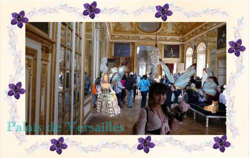 ヴェルサイユ宮殿 鏡の間を過ぎて♪ ハネムーン旅行記2014 フランス&イタリア♪ - インド舞踊!絵画モデルで活躍中のねことぬいぐるみの人形劇ブログ♪ ねこのピンクハッピーライフ
