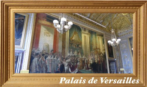 ヴェルサイユ宮殿 戴冠式の絵画のある部屋♪ハネムーン旅行記2014 フランス&イタリア♪ - インド舞踊!絵画モデルで活躍中のねことぬいぐるみの人形劇ブログ♪ ねこのピンクハッピーライフ