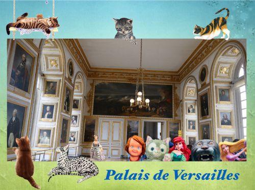 ヴェルサイユ宮殿 肖像画のお友達いっぱいの部屋!ハネムーン旅行記2014 フランス&イタリア♪ - インド舞踊!絵画モデルで活躍中のねことぬいぐるみの人形劇ブログ♪ ねこのピンクハッピーライフ