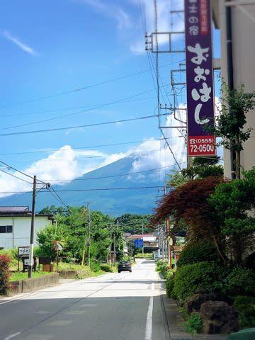 【河口湖]富士の宿おおはしのお部屋のお風呂から見る絶景な富士山